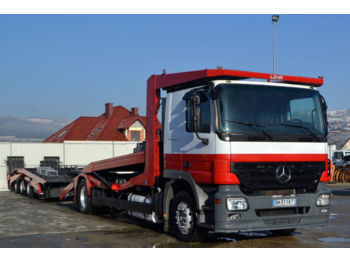 Autotransportues Mercedes-Benz Actros 1844 Autotranspor + Anhänger Lohr
