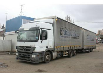 Kamion me perde anësore Mercedes-Benz ACTROS 2541 L/NR 6X2, TRAILER SVAN 2011