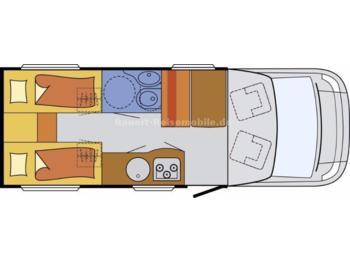 Sunlight T 66 *210cm Einzelbetten*Küchentraum*  - furgon kamper