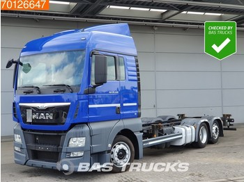 MAN TGX 24.440 6X2 XLX Mega Intarder 2x Tanks Navi Euro 6 - konteynır taşıyıcı/ yedek karoser kamyon