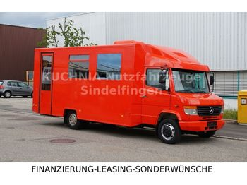 Прицепной автодом Mercedes-Benz Vario 814d Bank Wohnmobil Camper Verkaufsfahrzeu
