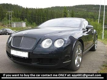 Bentley Continental 6,0 GT - lengvasis automobilis