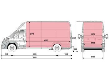 Fiat Ducato 35H L5H3 Kasten 2.3 MJet 140 Euro 6D-Temp  - krovininis mikroautobusas