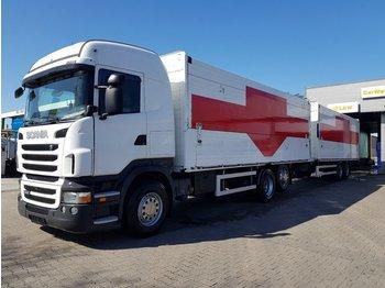 SCANIA R 440 Getränkewagen + 2-Achs Anhänger Schwenkw. - juomien kuljetukseen kuorma-auto