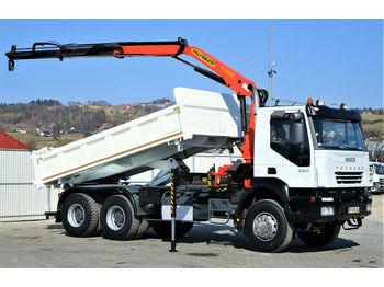 Kipper Iveco Trakker 350 Kipper 5,10m/Bordmatic+Kran*6x4