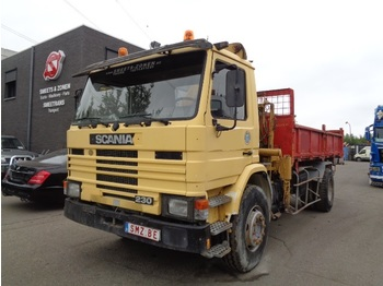 Kipper Scania 93 230 lames benne/grue