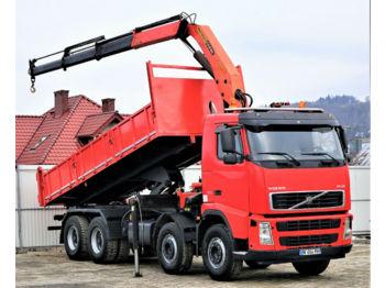 Volvo FH12 420 Kipper+Bordmatic 6,30m+Kran Topzustand!  - Kipper