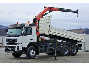 Volvo FMX 370 Kipper+Bordmatic 5,50m+Kran/FUNK!  - Kipper