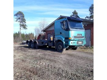 SISU E12 480 8x2 metsäkoneritilä - biltransportbil lastbil