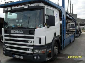 Scania P114LB  - biltransportbil lastbil