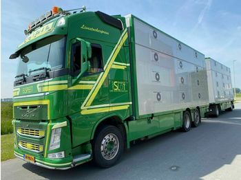 Volvo FH 13-540 6X2 EURO 6 - 3 STOCK + CUPPERS 2 AS AA  - djurtransport lastbil
