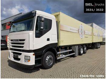 Iveco Stralis 420 / Lenkachse / Intarder / KOMPLETT  - dryckestransport lastbil