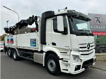 Flakbil Mercedes-Benz 2545 Actros Hiab 166 K Pro Baustoff Euro6
