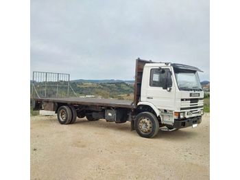 SCANIA 93M 210 left hand drive 17 ton on springs - flakbil