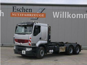 Lastväxlare lastbil Renault 460 DXI 6x4, Premium Lander, Hiab XR 18S56, EEV