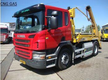 Liftdumper lastbil Scania 310 hyva PORTAAL LIFT14 ton CNG aardgas