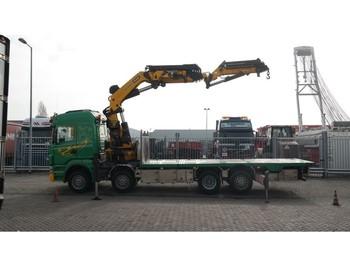 Lastbil Scania R 500 8X2 BOAT TRANSPORT WITH PALFINGER PK 85002 CRANE WITH JIB PJ 170