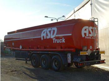 Tankbil lastbil KASSBOHRER STB 40,9m3 5komor ADR