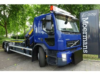 Volvo FE 320 6x2 Abrollkipper Autokran  - container-transport/ vekselflak lastebil