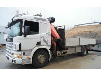 Flatbed lastebil Scania 94 D crane truck Palfinger PK21000 hiab fassi