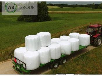 Dinapolis Dinapolis Anhänger für Ballen BDINA RP-10500 10.5m 14t/ Прицеп для тюков и рулонов 14 тонн - remolque plataforma agrícola