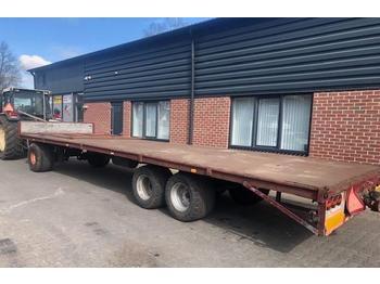 platte wagen balenwagen, transportkar, transportwa  - remolque plataforma agrícola