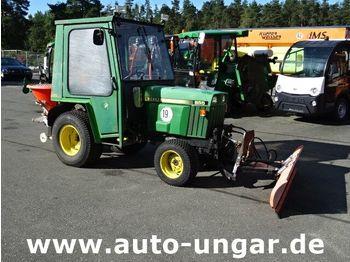 JOHN DEERE 855 4x4 Kommunaltraktor Winterdienst Schild Streuer - tractor comunal