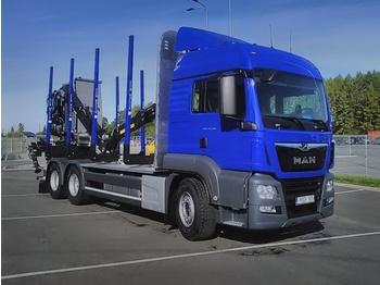 MAN 33'510 - ciężarówka do przewozu drewna