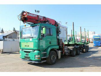 Ciężarówka do przewozu drewna MAN TGA 26.460 6x4 BL RETARDER + HUTTNER 2004