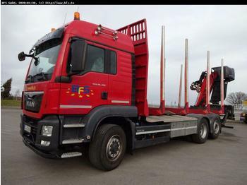 MAN TGS 26.480 6x4H-4BL Kurzholz Masterdrive  - ciężarówka do przewozu drewna