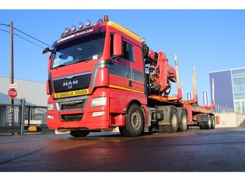 MAN TGX 26.480 BLS+FAYMONVILLE-EXTENDABLE+JONSERED 2490 (bj 2010) - ciężarówka do przewozu drewna