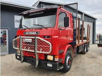 Ciężarówka do przewozu drewna Scania R 142H 420 6x4 forest truck + crane