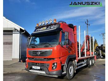 Volvo FMX 500 do drewna paletowego kłody lasu drzewa epsilon loglift kesla doll huttner - ciężarówka do przewozu drewna