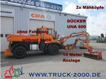 UNIMOG Dücker UNA600 Böschungsmäher 2 Mähköpfe-15 Meter - kosiarka rolnicza