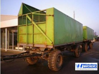 Fortschritt HW 80 mit Schwerhäckselaufbau - przyczepa rolnicza