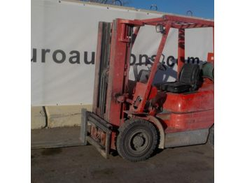 4-wheel front forklift 1998 Toyota FGF25 Gas Powered Forklift c/w 3 Stage Mast & Forks - 21666