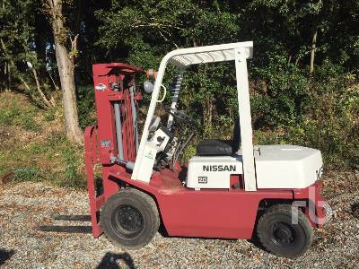NISSAN PF02 4-wheel front forklift from Spain for sale at Truck1, ID