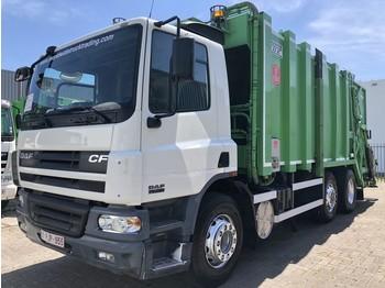 DAF CF 75 250 + 6X2 + VDK PUSHER IIK CB DUAL GARBAGE SYSTEM + EURO 3 - شاحنة النفايات