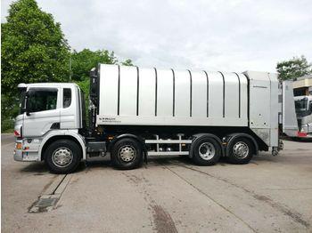 Garbage truck Scania 7 x P 410 8X2 Lenkachse Müllwagen FAUN ROTOPRESS