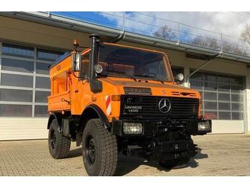 Κοινοτικο όχημα/ ειδικό όχημα Unimog 1400 - U1400 mit Salzstreuer Mercedes Benz