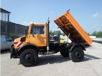 آلية المنفعة/ مركبة خاصة Unimog U 1650 427/21 KIPPER - AHK