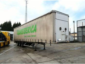 FRUEHAUF full steel frame tri axle 34 ton with lifting roof - naczepa plandeka