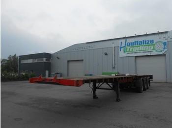 LAG 3 axles - full steel suspensions - drum/tambour - naczepa platforma