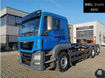 Hákový nosič kontajnerov MAN TGS 26.440 / Lenkachse / Liftachse / Meiller