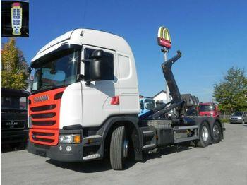Hákový nosič kontajnerov Scania G 410 LB 6x2*4HNA Abrollkipper Meiller, Lift+Len: obrázok 1