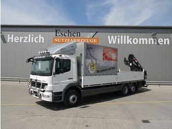 Mercedes-Benz 2024 L Atego, 6x2, Hiab 111B-3 Duo Kran, LBW  - nákladné vozidlo s posuvnou plachtou