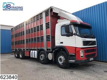 Volvo FM13 400 8x2, Steel suspension, Retarder, Manual - přepravník zvířat