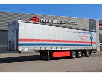 Schmitz Cargobull Curtain + brackets for truck at the rear end - тентований напівпричіп