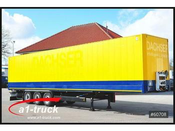Закритий кузов напівпричіп Krone SDK 27, Koffer, Textil, Doppselstock mit Balken,