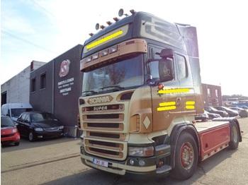 Nyergesvontató Scania R 500 Topline Showtruck airbrush old tacho
